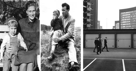 """Med mamma & med pappa (1957) t.h. precis här växte jag upp, i """"BD-land"""""""