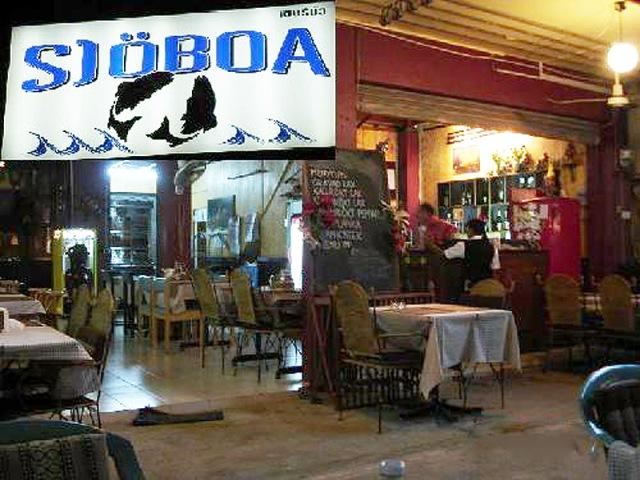"""Restaurang """"Sjöboa"""", Jomtien beach"""
