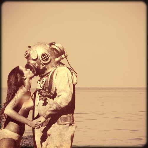 Kyssar & dykning, två underbara ting. Men kanske inte alltid samtidigt