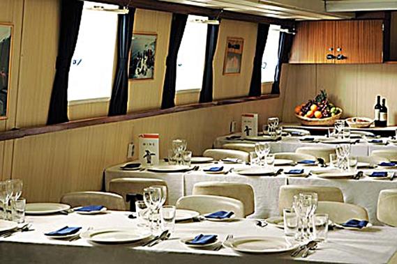 Matsalen på den båt jag jobbat mest på i Antarktis