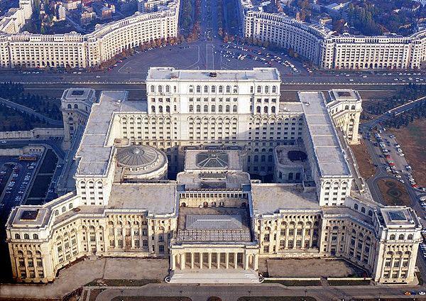 """Den f.d. rumänske diktatorn Nicolae Ceauşescus palats """"Casa Poporului"""""""