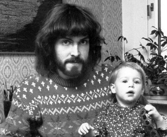 "Peter med dotter 1980. Stamfader till hela ""Fleet Foxes"""