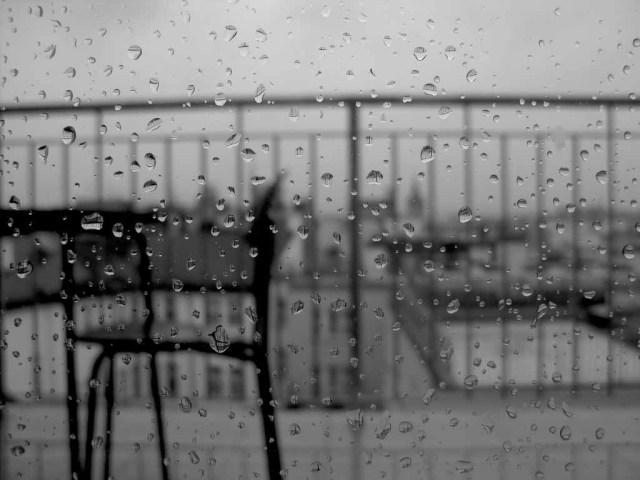 I går kom regnet