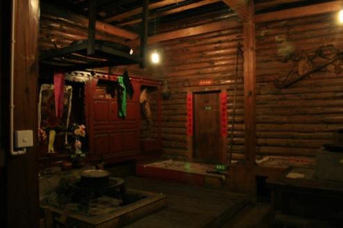 Sovrum i ett av Mosuo-folkets hus