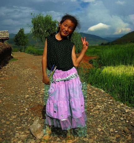 Ung och stolt. Flicka från Mosuo-folket
