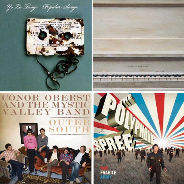 """Popular Songs"" med ""Yo La Tengo"", ""Grand Archives"", ""Conor Oberst"