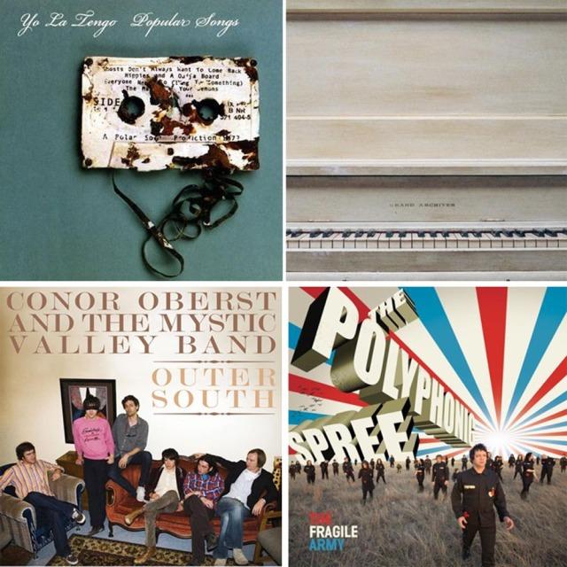 """Popular Songs"" med ""Yo La Tengo"", ""Grand Archives"", ""Conor Oberst"