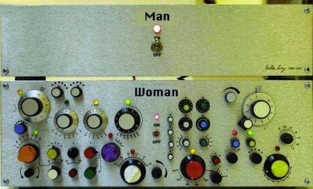 Ni kvinnor behöver inte trycka på så många knappar.