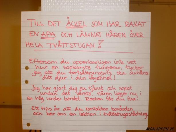 Hur kan man vara så elak så man rakar en apa? / från argalappen.se
