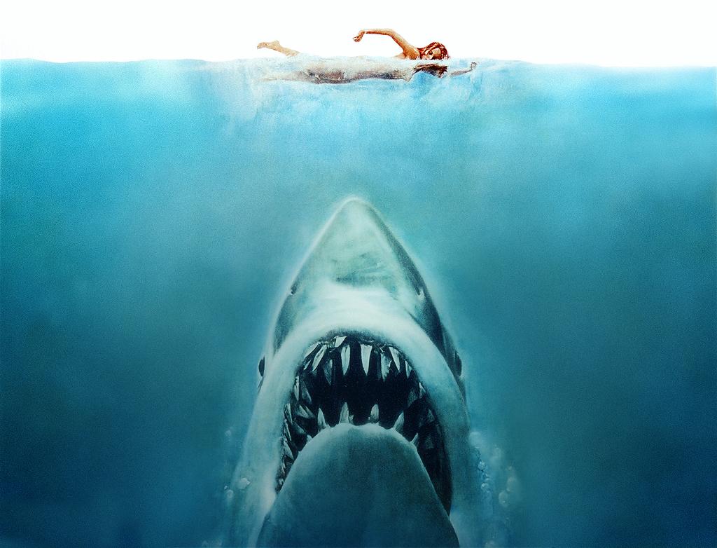 Så här presenterades filmen hajen 1975
