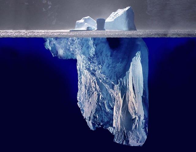 Det mesta finns under ytan