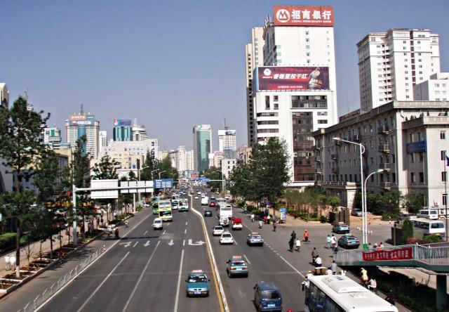 Centrala Kunming. Lägg märke